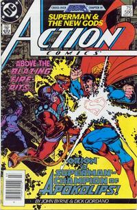 Cover Thumbnail for Action Comics (DC, 1938 series) #586 [Newsstand]