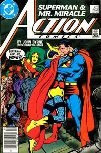 Cover Thumbnail for Action Comics (DC, 1938 series) #593 [Newsstand]