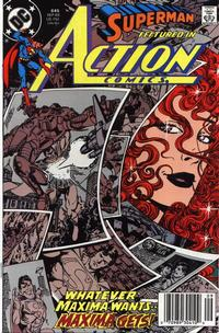 Cover Thumbnail for Action Comics (DC, 1938 series) #645 [Newsstand]