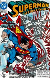 Cover Thumbnail for Action Comics (DC, 1938 series) #667 [Direct]