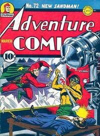 Cover Thumbnail for Adventure Comics (DC, 1938 series) #72