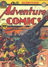 Cover Thumbnail for Adventure Comics (DC, 1938 series) #78