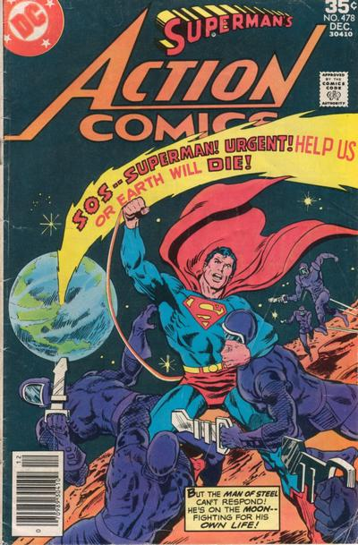 Cover for Action Comics (DC, 1938 series) #478