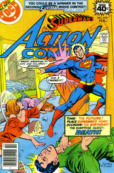 Cover for Action Comics (DC, 1938 series) #492 [Whitman]