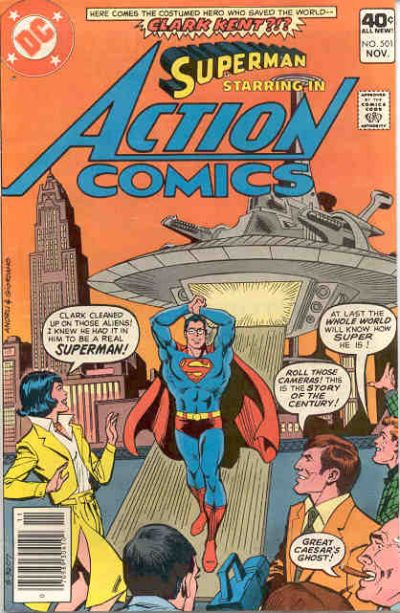 Cover for Action Comics (DC, 1938 series) #501