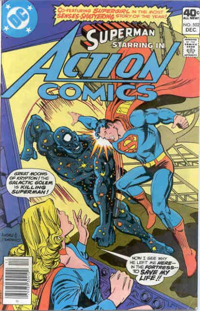 Cover for Action Comics (DC, 1938 series) #502