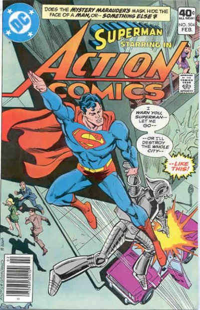 Cover for Action Comics (DC, 1938 series) #504 [Whitman]