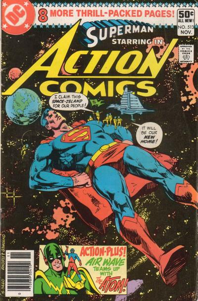 Cover for Action Comics (DC, 1938 series) #513 [Direct]