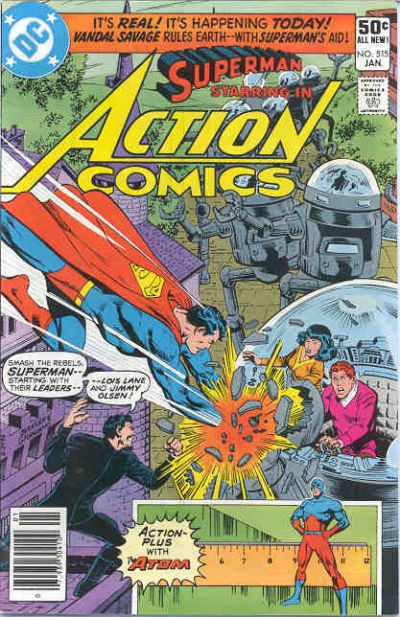 Cover for Action Comics (DC, 1938 series) #515 [Direct Sales]