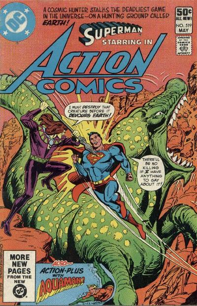 Cover for Action Comics (DC, 1938 series) #519 [Direct Sales]