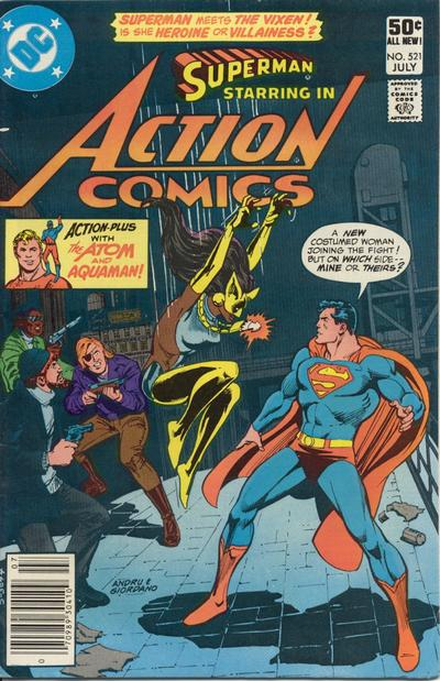 Cover for Action Comics (DC, 1938 series) #521 [Direct]