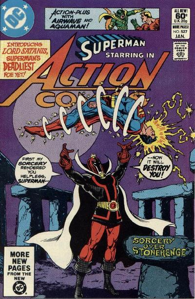 Cover for Action Comics (DC, 1938 series) #527 [Newsstand]