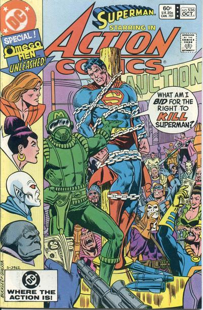Cover for Action Comics (DC, 1938 series) #536 [Direct Edition]