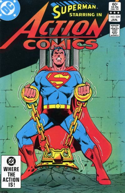 Cover for Action Comics (DC, 1938 series) #539 [Newsstand]
