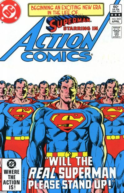 Cover for Action Comics (DC, 1938 series) #542 [Direct Edition]