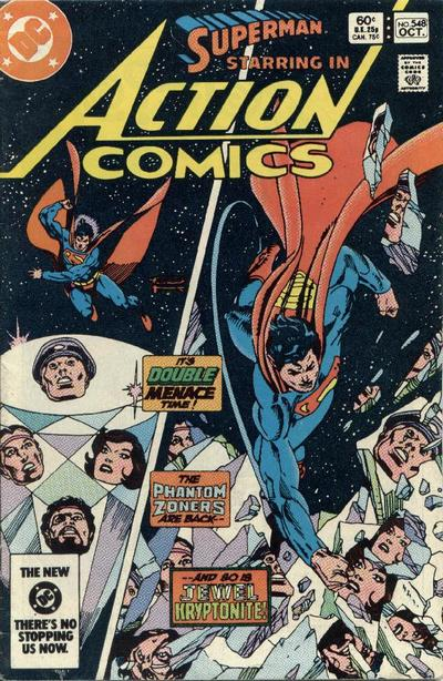 Cover for Action Comics (DC, 1938 series) #548 [Direct Edition]