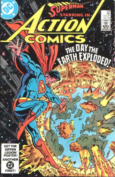Cover for Action Comics (DC, 1938 series) #550 [Direct-Sales]