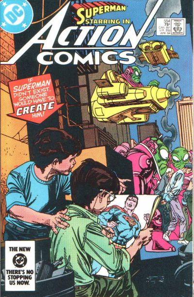 Cover for Action Comics (DC, 1938 series) #554 [Direct Edition]