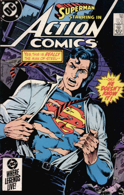 Cover for Action Comics (DC, 1938 series) #564 [Direct]