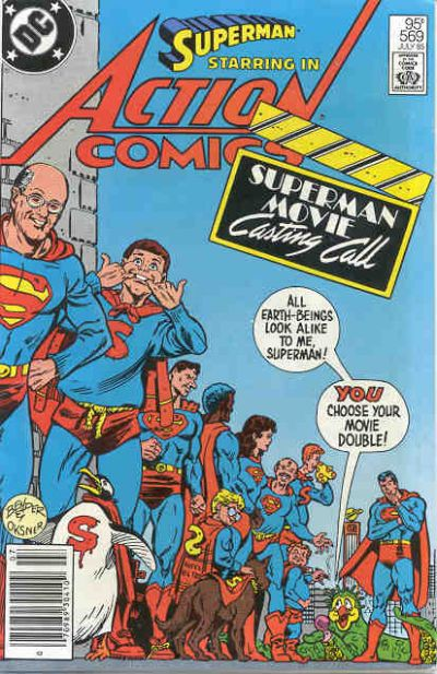 Cover for Action Comics (DC, 1938 series) #569 [Direct Sales]