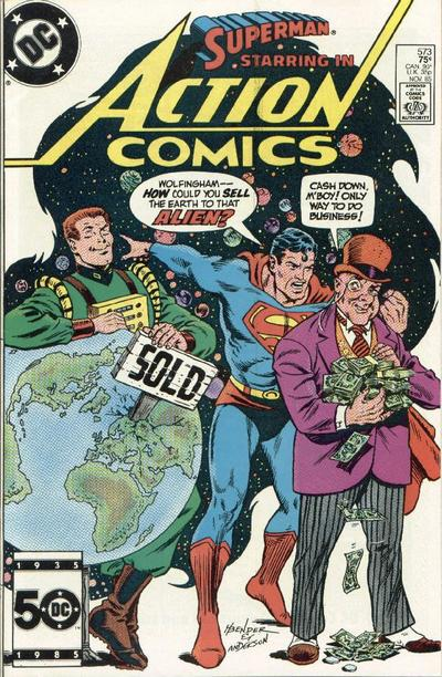 Cover for Action Comics (DC, 1938 series) #573 [Direct Sales]