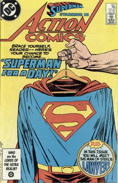 Cover for Action Comics (DC, 1938 series) #581 [Direct Edition]