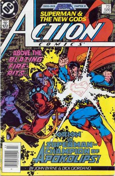 Cover for Action Comics (DC, 1938 series) #586 [Newsstand]
