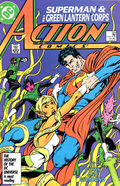Cover for Action Comics (DC, 1938 series) #589 [Newsstand]