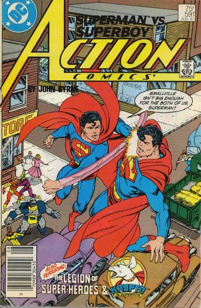 Cover for Action Comics (DC, 1938 series) #591 [Newsstand]