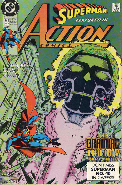Cover for Action Comics (DC, 1938 series) #649