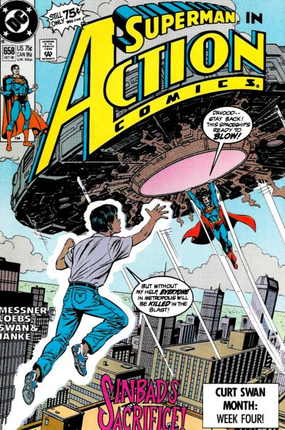 Cover for Action Comics (DC, 1938 series) #658 [Direct]