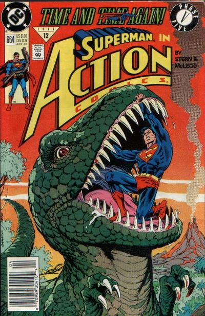 Cover for Action Comics (DC, 1938 series) #664 [Newsstand]