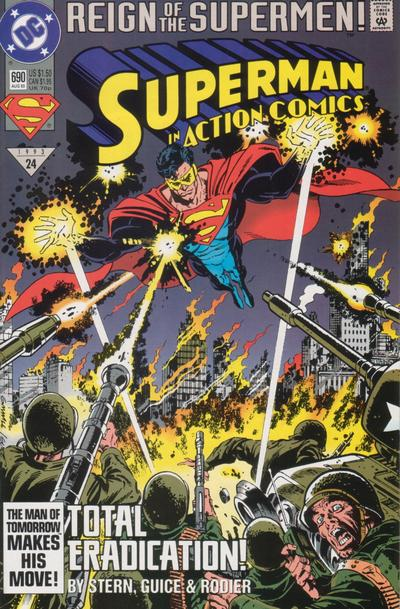 Cover for Action Comics (DC, 1938 series) #690