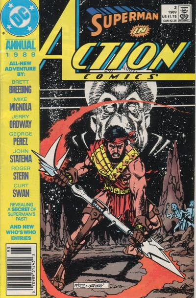 Cover for Action Comics Annual (DC, 1987 series) #2 [Newsstand]