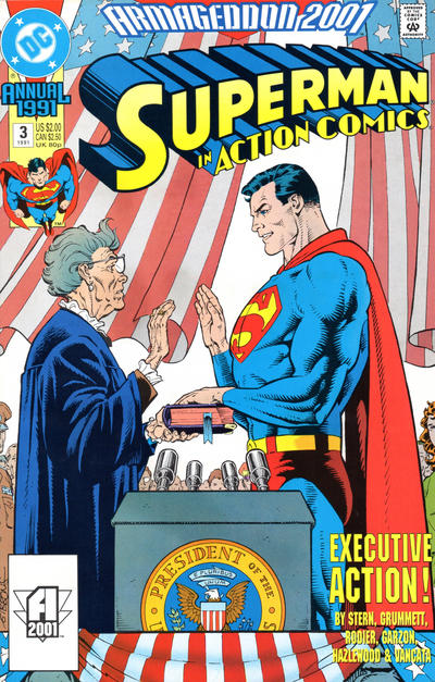 Cover for Action Comics Annual (DC, 1987 series) #3
