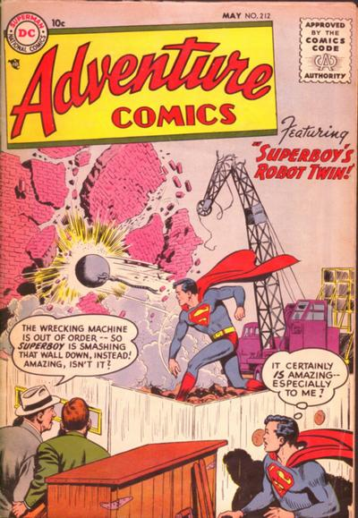 Cover for Adventure Comics (DC, 1938 series) #212