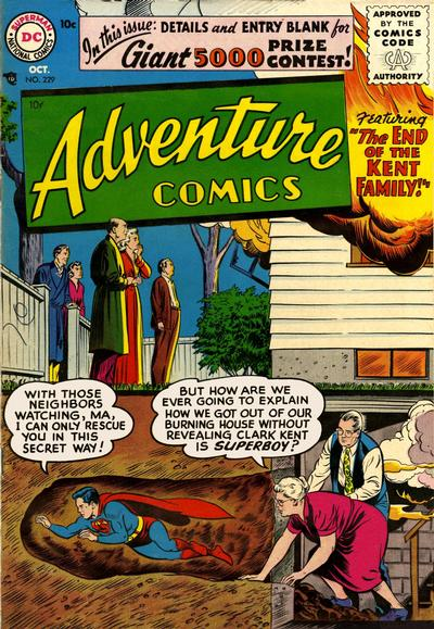 Cover for Adventure Comics (DC, 1938 series) #229