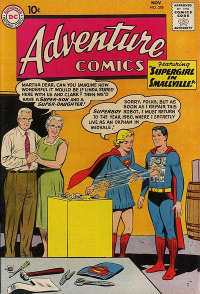 Cover for Adventure Comics (DC, 1938 series) #278