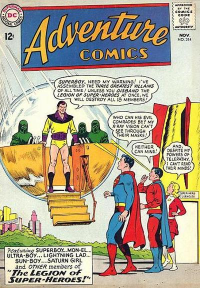 Cover for Adventure Comics (DC, 1938 series) #314