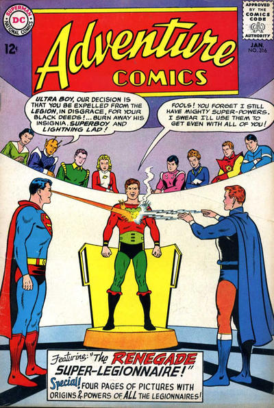Cover for Adventure Comics (DC, 1938 series) #316