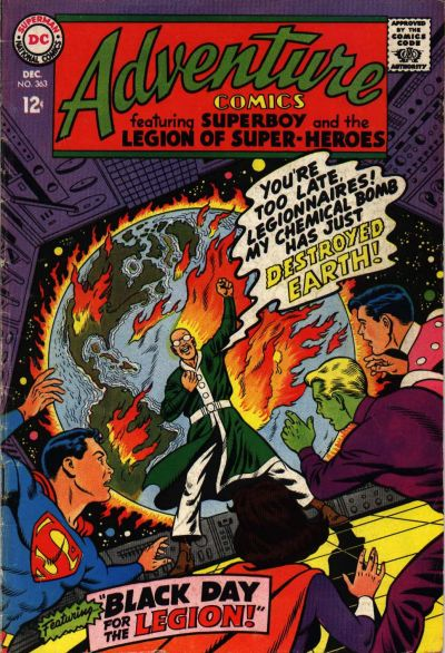 Cover for Adventure Comics (DC, 1938 series) #363