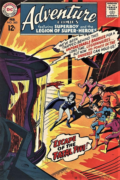 Cover for Adventure Comics (DC, 1938 series) #365