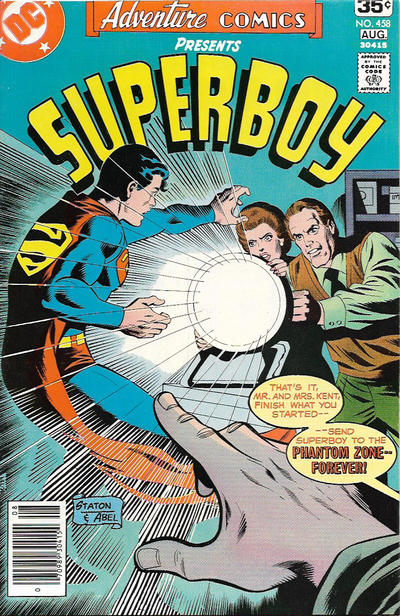 Cover for Adventure Comics (DC, 1938 series) #458