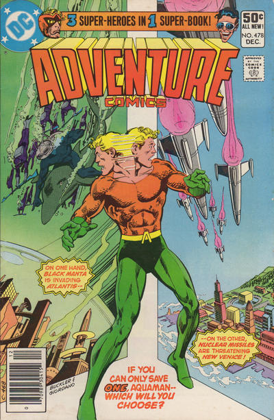 Cover for Adventure Comics (DC, 1938 series) #478 [Direct Edition]