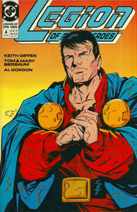 Cover for Legion of Super-Heroes (DC, 1989 series) #4