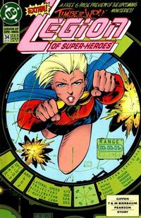 Cover Thumbnail for Legion of Super-Heroes (DC, 1989 series) #34