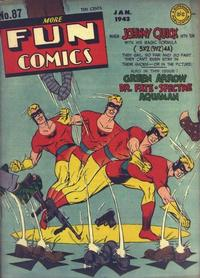 Cover Thumbnail for More Fun Comics (DC, 1936 series) #87