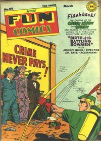 Cover Thumbnail for More Fun Comics (DC, 1936 series) #89