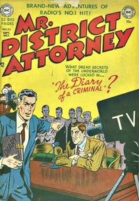 Cover Thumbnail for Mr. District Attorney (DC, 1948 series) #23