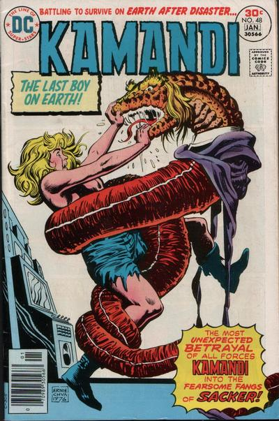 Cover for Kamandi, The Last Boy on Earth (DC, 1972 series) #48